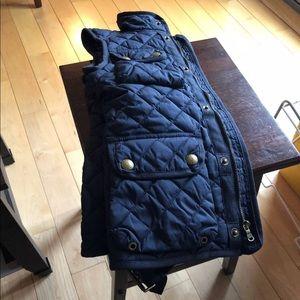 Ralph Lauren navy vest with belt, size s7